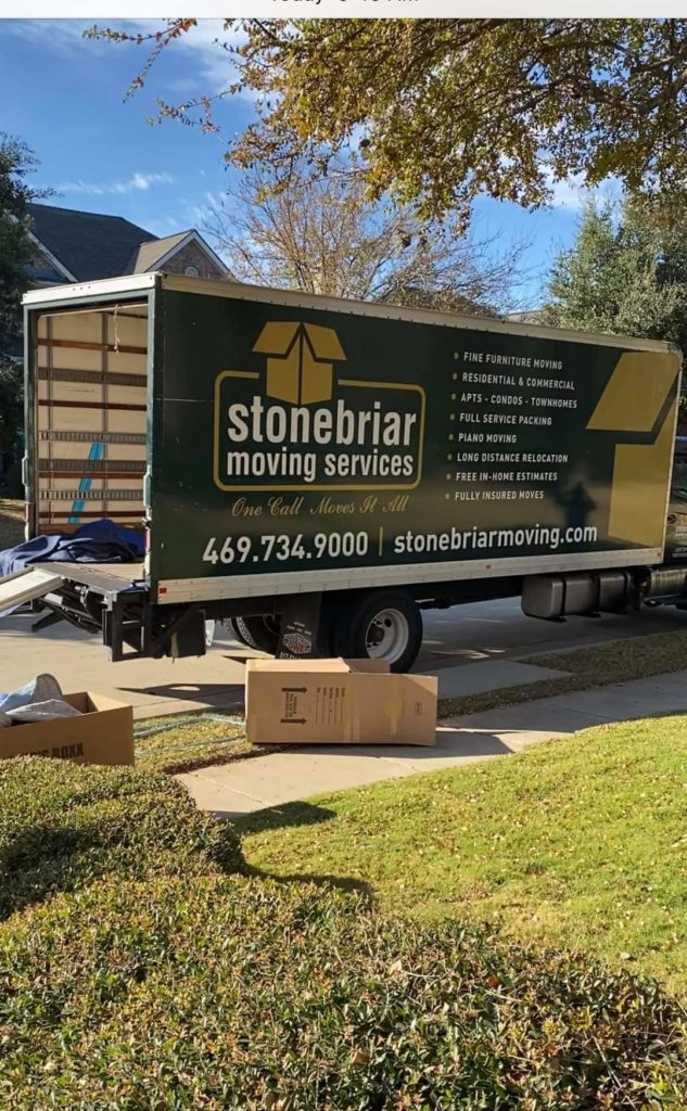 An image of a large Stonebriar Moving truck.